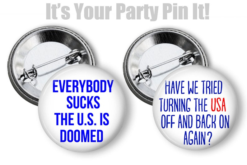 Protest Buttons 2.25 inch pinback button pin badge Pin Set Badges Anti Trump Buttons Not My President USA Pin Button