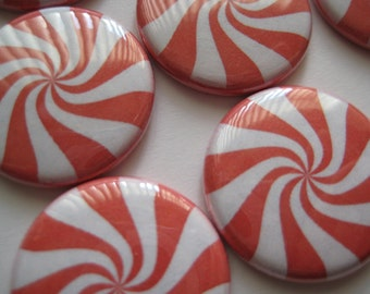"Candy Peppermint Pepomint Christmas Candy Images 1"" flat back buttons Pinback buttons Hollowback DIY hairbows Candy Magnet Backpack pins"
