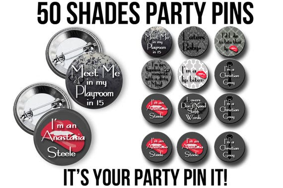 50 Shades Of Sexy Bachelorette Party Favors 2 25 Inch Pinback Etsy