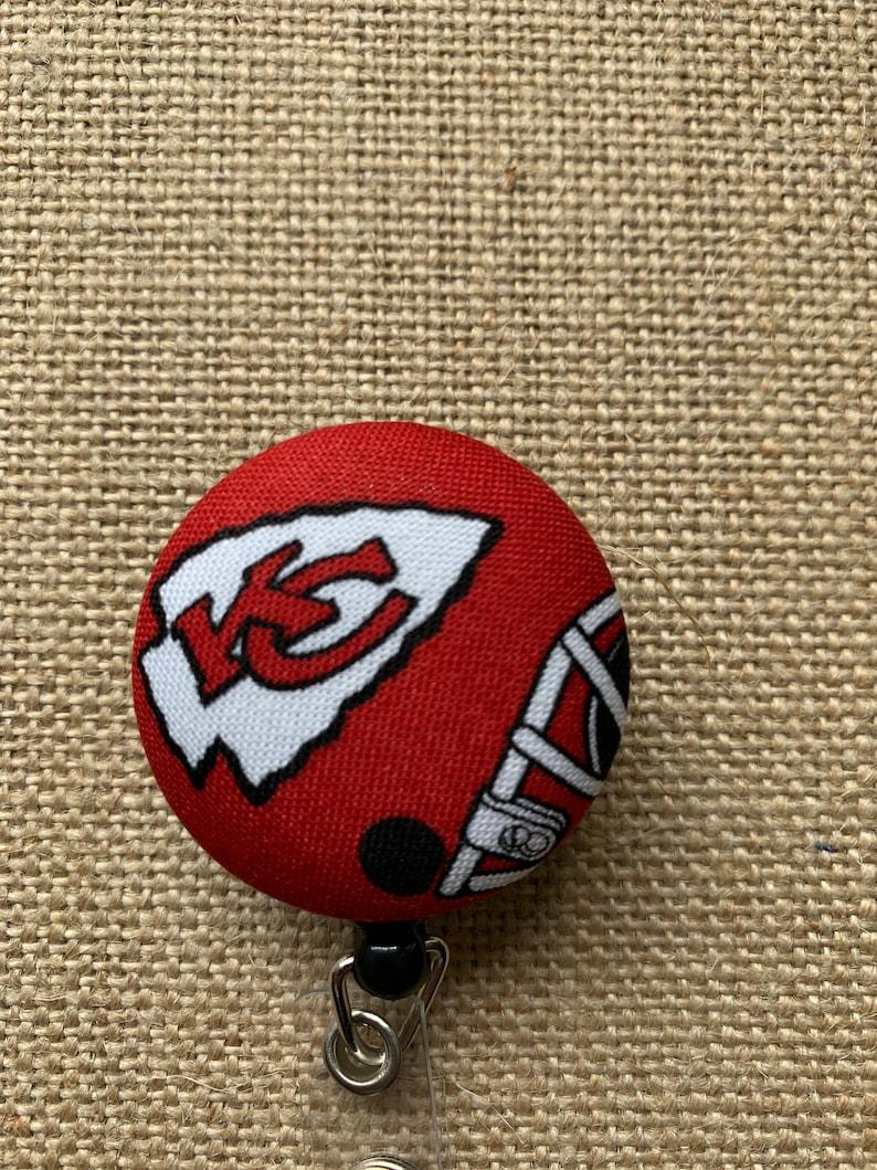 Gift for Him Kansas City Chiefs ID Badge Reel Holder Name Badge Holder Nurse Badge Reel Nursing Badge Reel Nurse ID Badge