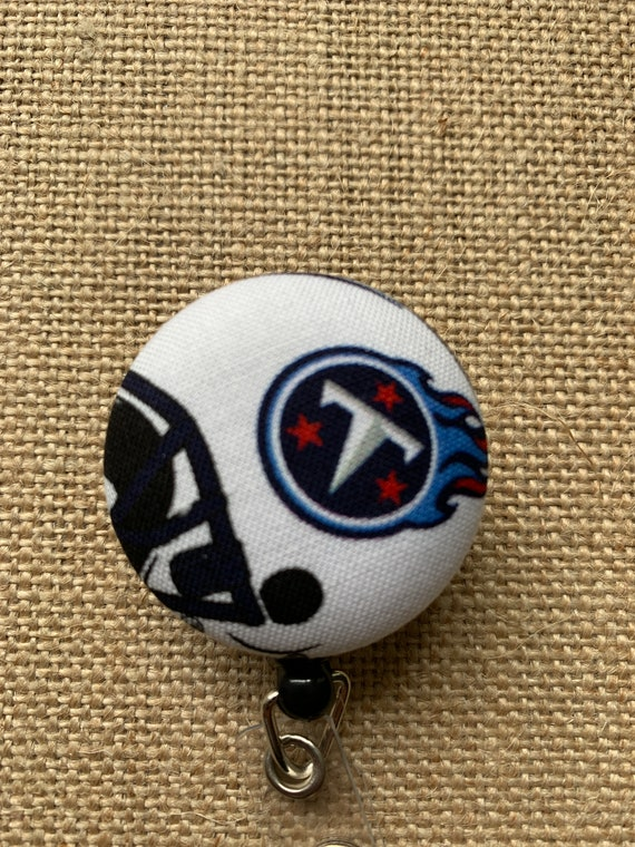 Retractable Badge Reel Name Tag ID Pull Clip Holder Lanyard Tennessee Titans