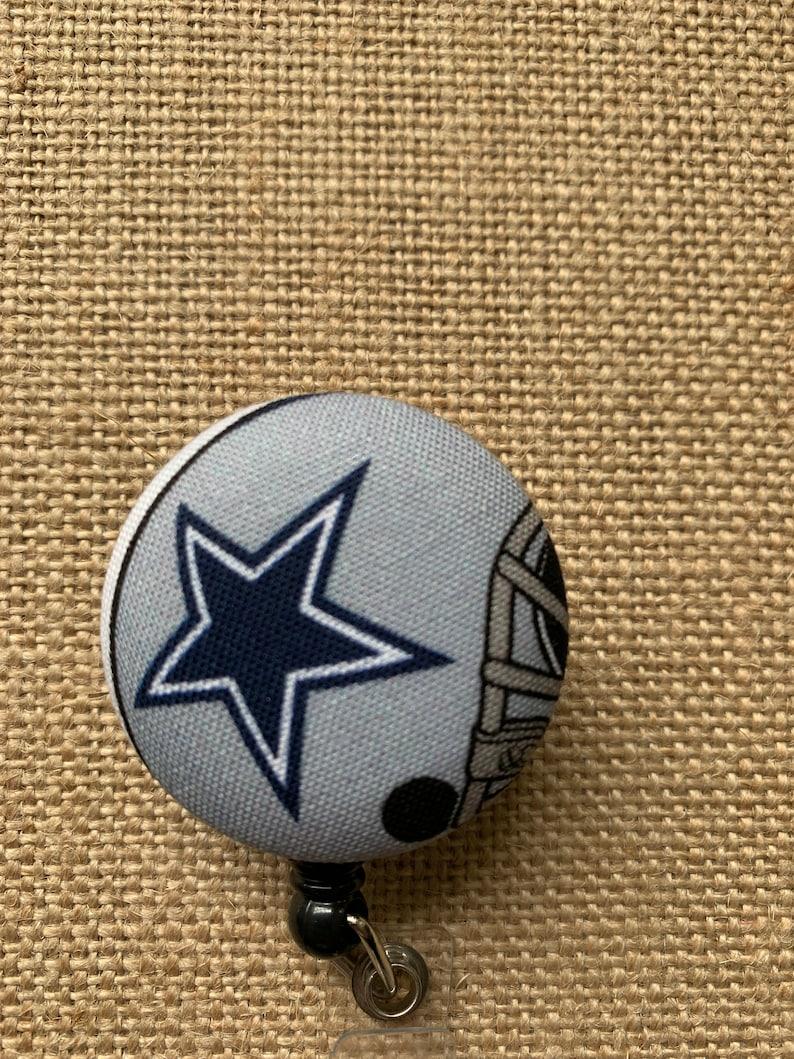 Dallas Cowboys Badge Reel Retractable Name Tag ID Pull Clip Holder Lanyard Gift