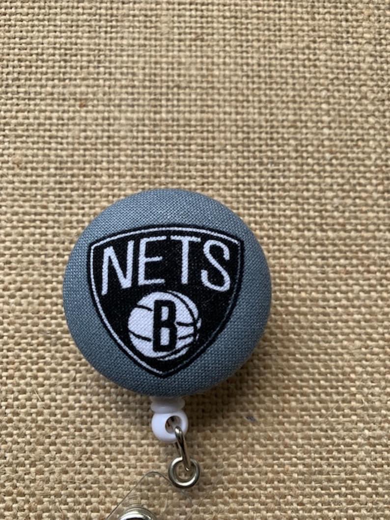 Nursing Badge Reel Name Badge Holder Gift for Him Nurse ID Badge Nurse Badge Reel Brooklyn Nets Basketball RN Badge Reel