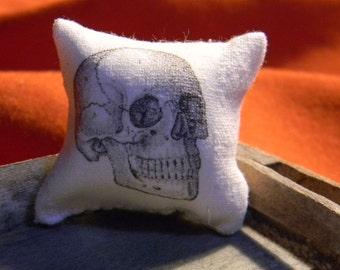 Pillow -  Skull Halloween -  Miniature Dollhouse Sized