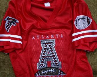 Atlanta Falcons Inspired Custom Bling Embroidered Jersey 8d3f9821e