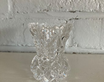 B13 Brilliant Cut Heavy Lead Crystal Vase Sawtooth