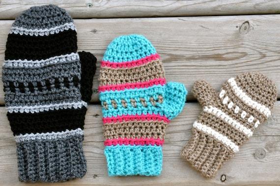Dylan Mittens Crochet Pattern Pdf Etsy