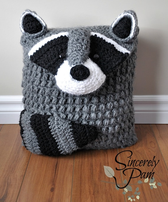 Ringo Raccoon Pillow Cover and