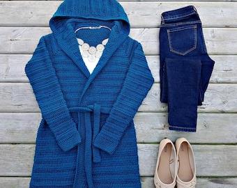 Danielle Cardigan Ladies XS-XL Crochet Pattern pdf