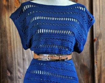 Jenny Oversized Tee Crochet Pattern pdf