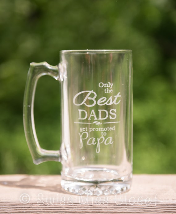 Custom Etched Beer Mug Father's Day for Pops