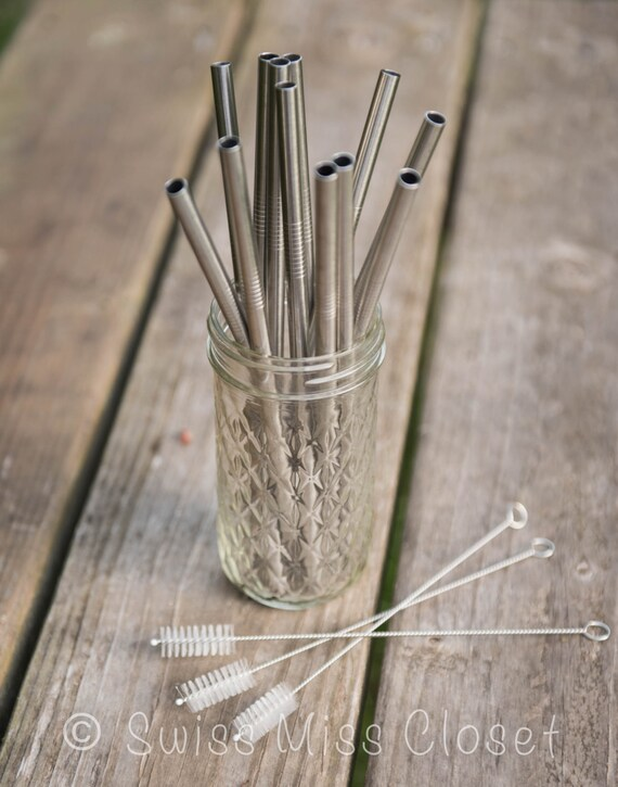 1 Straw Cleaner for Wide Eco Friendly Stainless Steel Straws DIY Weddings, Parties, Everyday Use