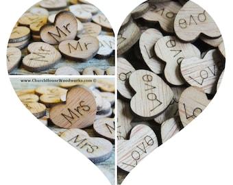 Wood Wedding HEARTS