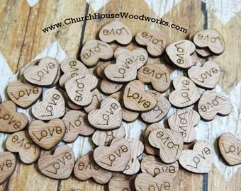 100 Love Wood Hearts 63125357dd30