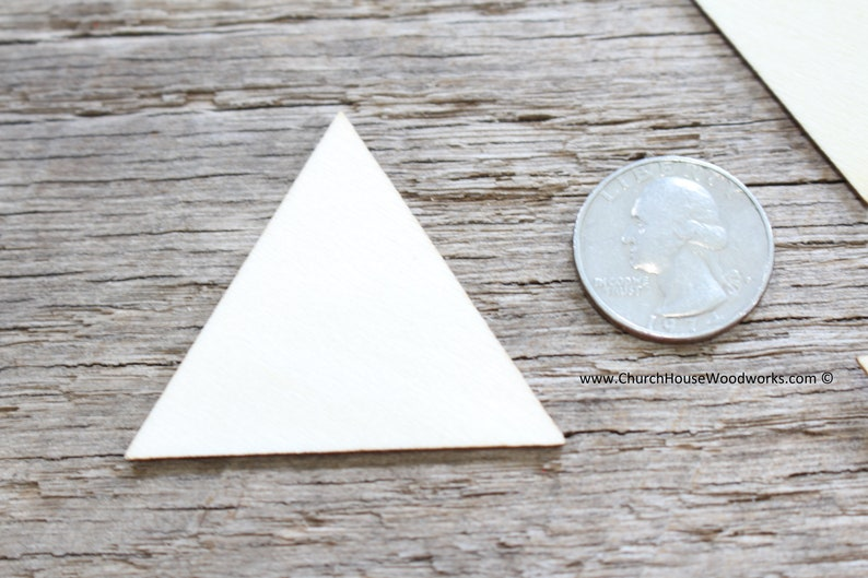 wood shapes DIY craft supplies two inch wood equilateral triangle 25 blank 2 inch wooden craft TRIANGLES