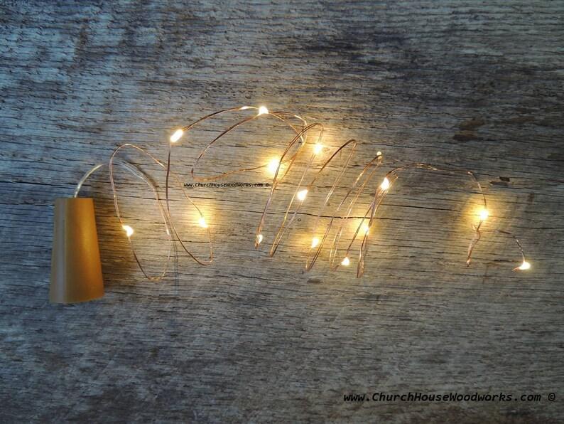 LED Wine Bottle Cork Lights Battery Operated Fairy Lights image 0