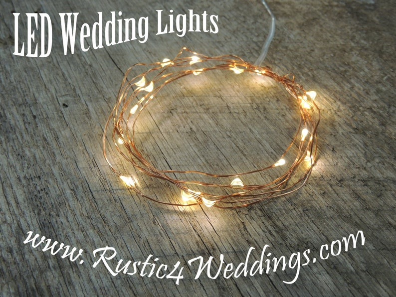 LED Battery Operated Fairy Lights Rustic Wedding Decor Room image 0