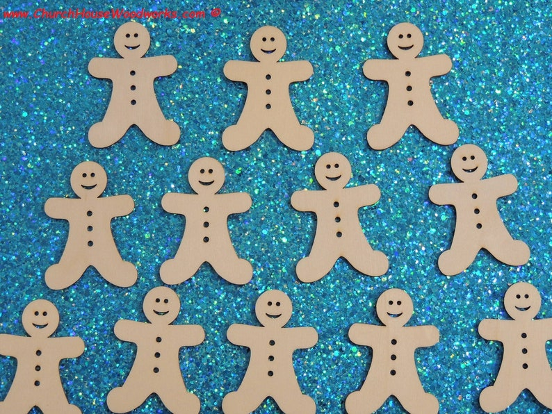 25 Gingerbread Men Wood Christmas Ornaments Diy Wooden Christmas Crafts To Paint On 2 Inch Gingerbread Man