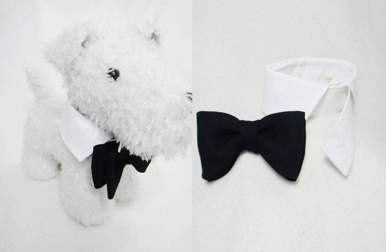 b5ba6fde8671 Small dog bow tie collar set Dog ring bearer wedding butterfly | Etsy