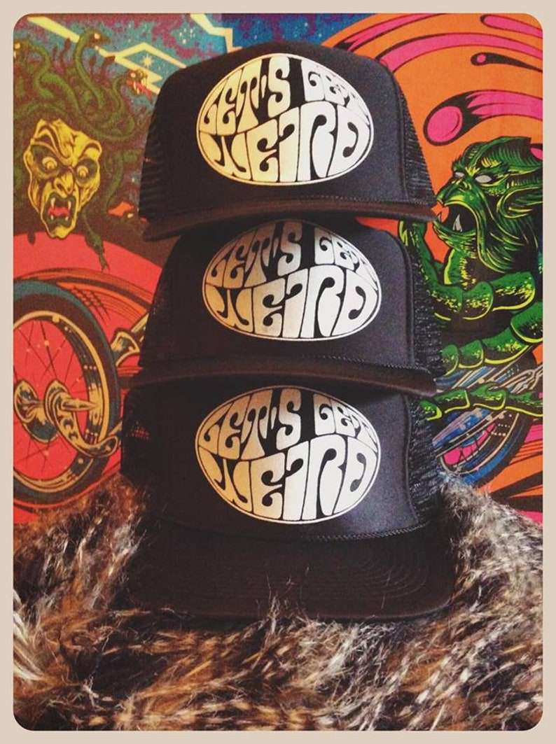 68a05884cb0 Let s Get Weird black adjustable trucker hat cap