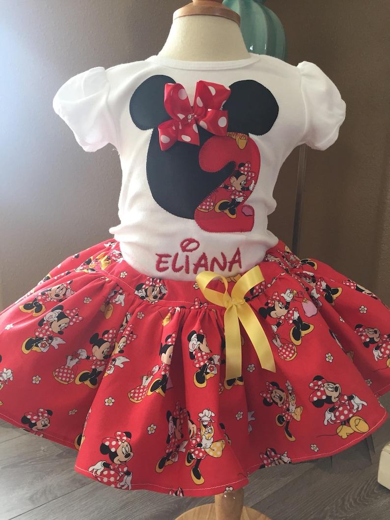 Cake Smash Birthday Minnie Birthday Outfit Flower girl tutu