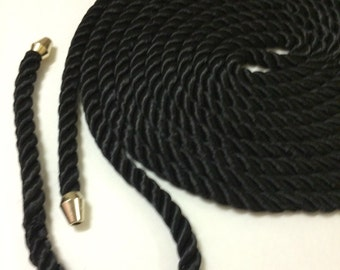 Black Rope Belt- Dance and Boho Festival Chic
