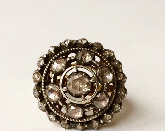 Antique Art Deco diamond engagement ring S1