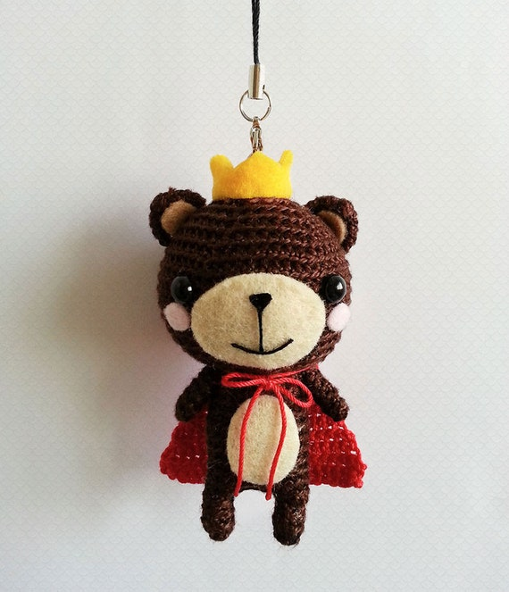 Gehaakte Amigurumi Bear Bear Schattige Sleutelhanger Etsy