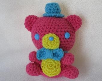 Chibi colorful Freddy amigurumi plush - pink