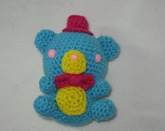 Chibi colorful Freddy amigurumi plush - turquoise