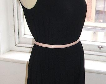 Baylis & Knight Black GRECIAN Drape One Shoulder Disco Dress Elegant 70's