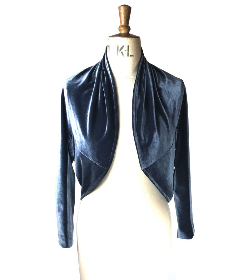 Baylis Knight Black Velvet Duster Coat Oversize Boho Retro Festival opera