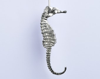 Seahorse Pewter Light Pull Solid Fine Pewter Cord Pulls, UK Handmade in the UK by Glover and Smith