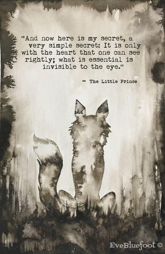 Little Prince Fox Illistration Little Prince Fox Gloomy Art Etsy