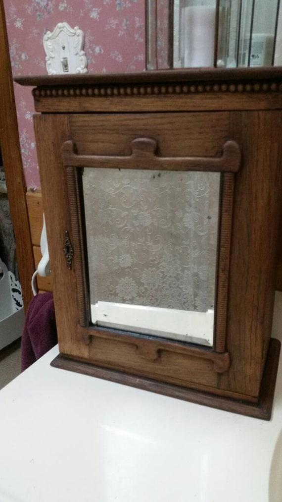 prodigious Medicine Cabinet Etsy Part - 17: Antique oak medicine cabinet | Etsy