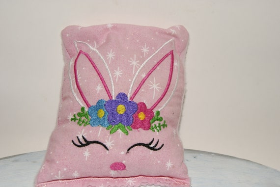 Miraculous Bunny Floral Crown Sleeping Rice Bag Also Cover For Rice Bag Boo Boo Easter Rabbit Bean Bag Stuffie Aromatherapy Scented Embroidery Alphanode Cool Chair Designs And Ideas Alphanodeonline