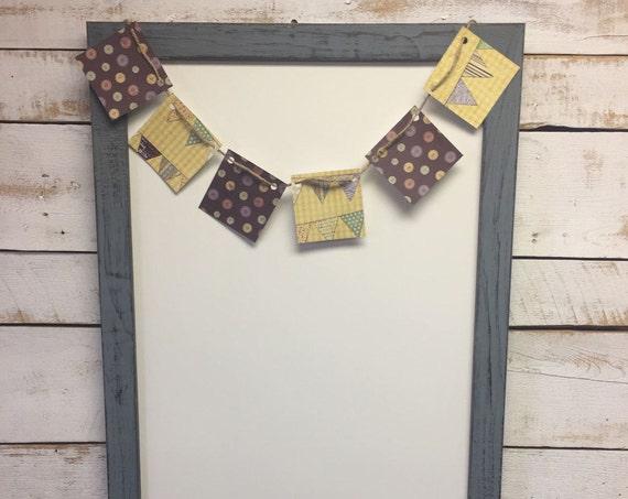 Rustic Dry Erase Board - Rustic Whiteboard - Dry Erase Board-Framed Whiteboard - Wood Dry Erase - Wood Whiteboard -Message Board -Memo Board