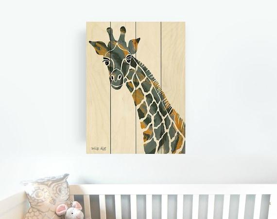 Giraffe Wall Art - Giraffe Sign - Safari Nursery Decor - Pallet Art-Wooden Sign - Wood giraffe sign - wood giraffe art - safari wall decor