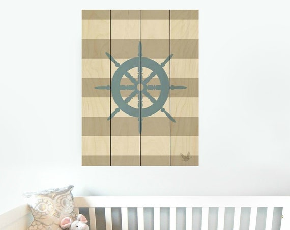 Nautical Captain's Wheel- Beach Sign- Boat Wheel Sign
