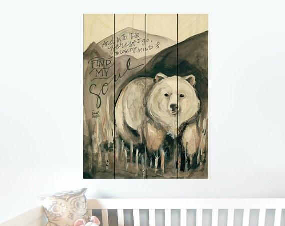 Bear Wall Decor-Bear Nursery Decor-Bear Nursery Wall Art-Nursery Wall DecorPallet Wood Sign-Pallet Wall Art-Pallet Wall Decor-Pallet Art