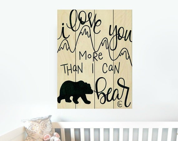 Bear Wall Decor-Bear Nursery Decor-Bear Nursery Wall Art-Nursery Wall DecorPallet Wood Sign-Pallet Wall Art-Pallet Wall Decor-Pallet Art