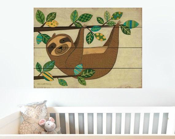 Sloth Wall Art - Sloth Sign - Nursery Wall Decor - Pallet Wood Sign - Pallet Wall Art - Pallet Wall Decor - Wood Pallet Art-Wood Pallet Sign