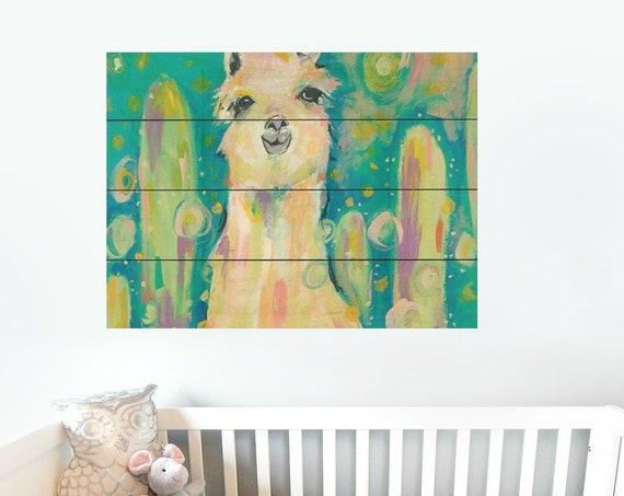 Llama Wall Art-Llama Sign-Nursery Wall Decor-Pallet Wood Sign-Pallet Wall Art-Pallet Wall Decor-Wood Pallet Art-Wood Pallet Sign