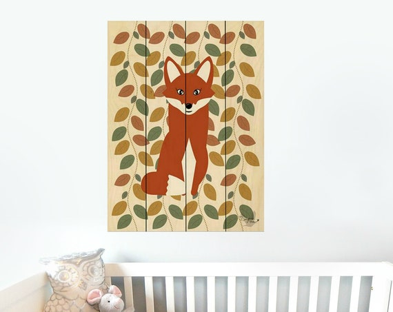 Fox Sign-Fox Nursery Decor-Fox Wall Art-Nursery Wall DecorPallet Wood Sign-Pallet Wall Art-Pallet Wall Decor-Wood Pallet Art