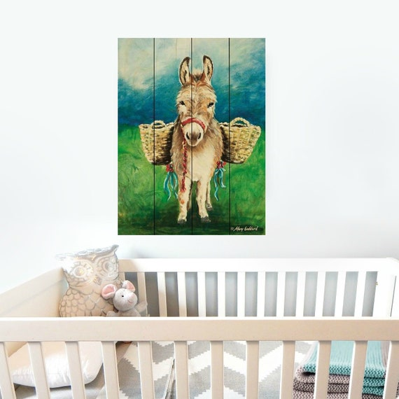 Mule Wall Art Sign -  Mule Sign - Donkey Sign - Pallet Wall Art - Pallet Wall Decor - Wood Pallet Art - Wood Pallet Sign - Bible Decor