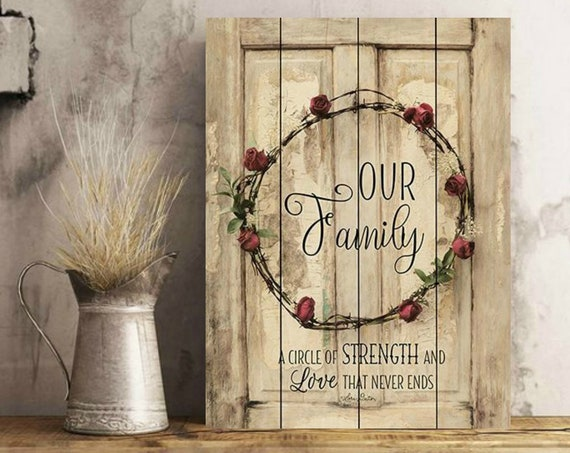 Our Family Sign-Home Wall Decor-Home Sign-Farmhouse Wall Decor-Wood Pallet Sign-Wood Pallet Art