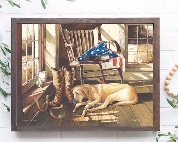 Dog Print - Yellow Labrador Retriever Print - Yellow Lab - Forever Faithful  - Pet lover gift - dog lover gift - pet room decor