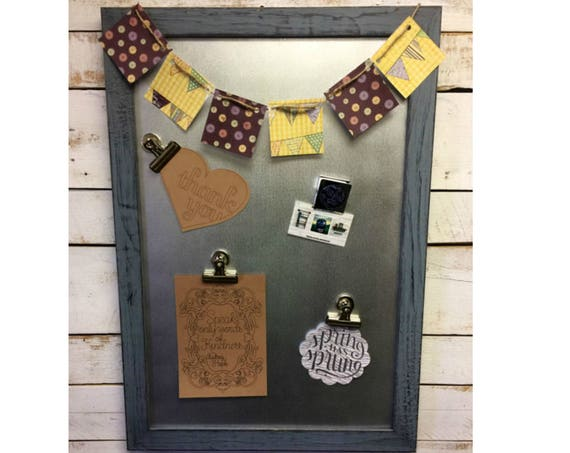 Framed Magnetic Board - Family Message Board  - Family Message Center - Message Center - Magnetic Framed Sign - Goal Board