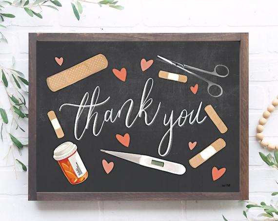 Health Care Thank You  | Thank You front line heroes Nurse's Print | Nurse thankful Print | Nurse Gift | Graduation | Nurse Print