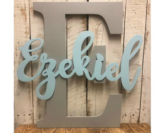 Baby Nursery Wall Hanging Letters-Wooden Letters-Nursery Wall Decor-Baby Name Sign-Kids Room-Kids Room Decor-Baby Nursery